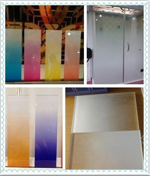 5+5mm Top Quality Color Changed Decorative Glass with CE SGS