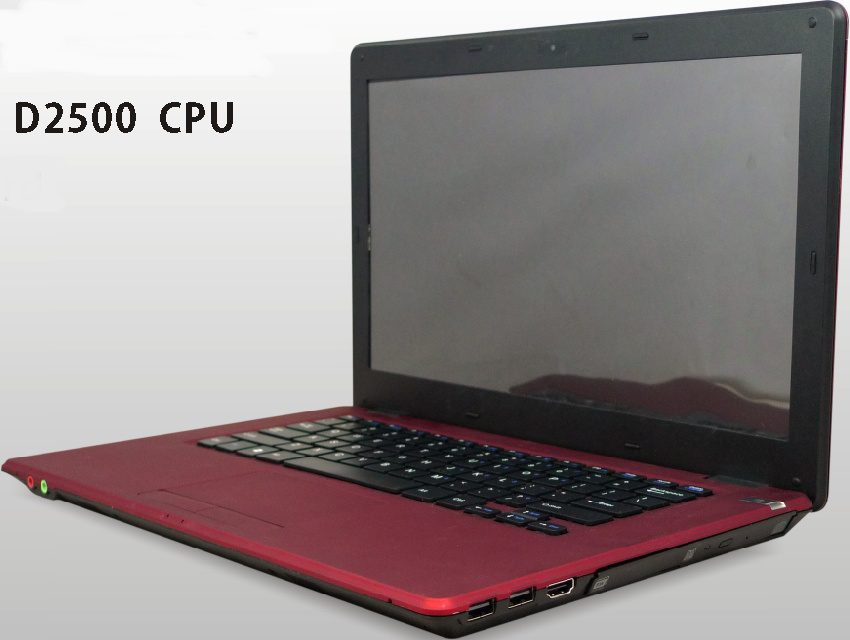 Laptop Netbook Notebook Atom D2500, Support 3G /WiFi, DVD-RW