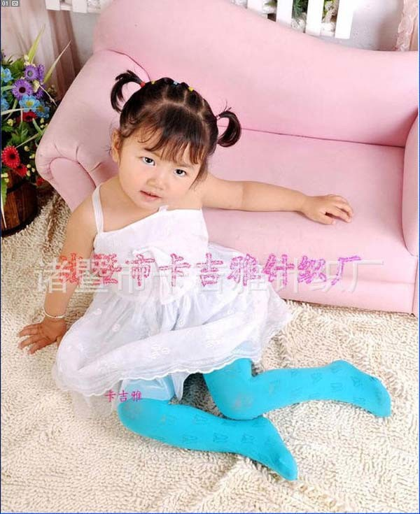 Kids' Jacquard Pantyhose/Baby/Nylon/Tights/Panty/Colorful/Dance/Socks