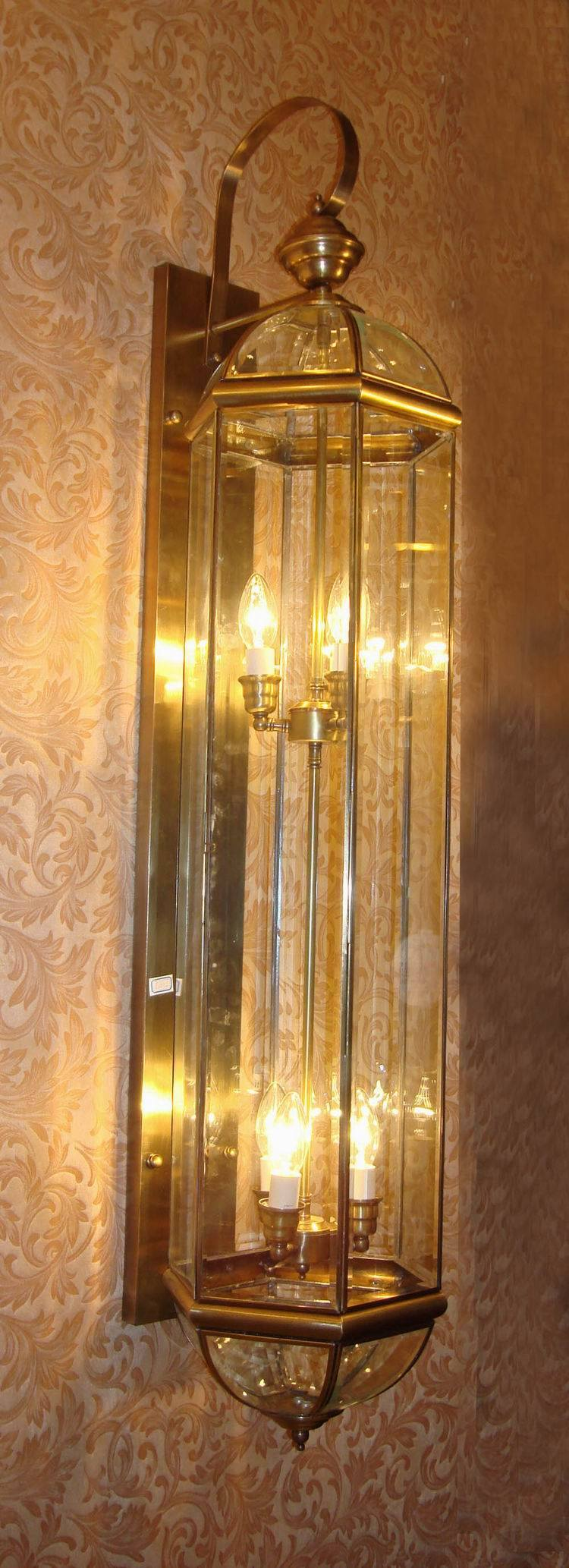 Pw-19354 Copper Wall Lamp with Glass Decorative