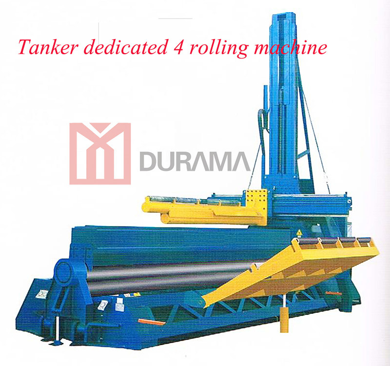 Heavy Duty Hydraulic CNC Four Roller Plate Rolling Machine