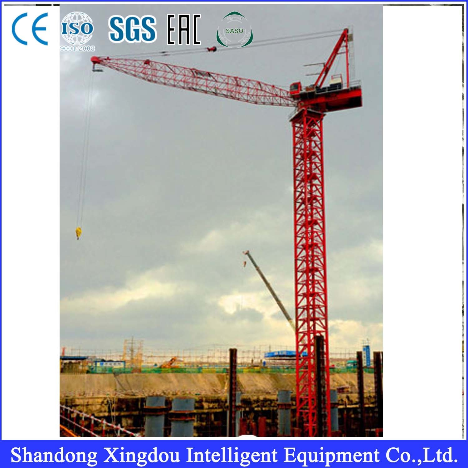 Grua Torre Tower Crane Topkit Hydraulic Crane Qtz63 (TC5610) 5 Tons 6 Tons 5t 6t in Brail and Middle East and Dubai Iran