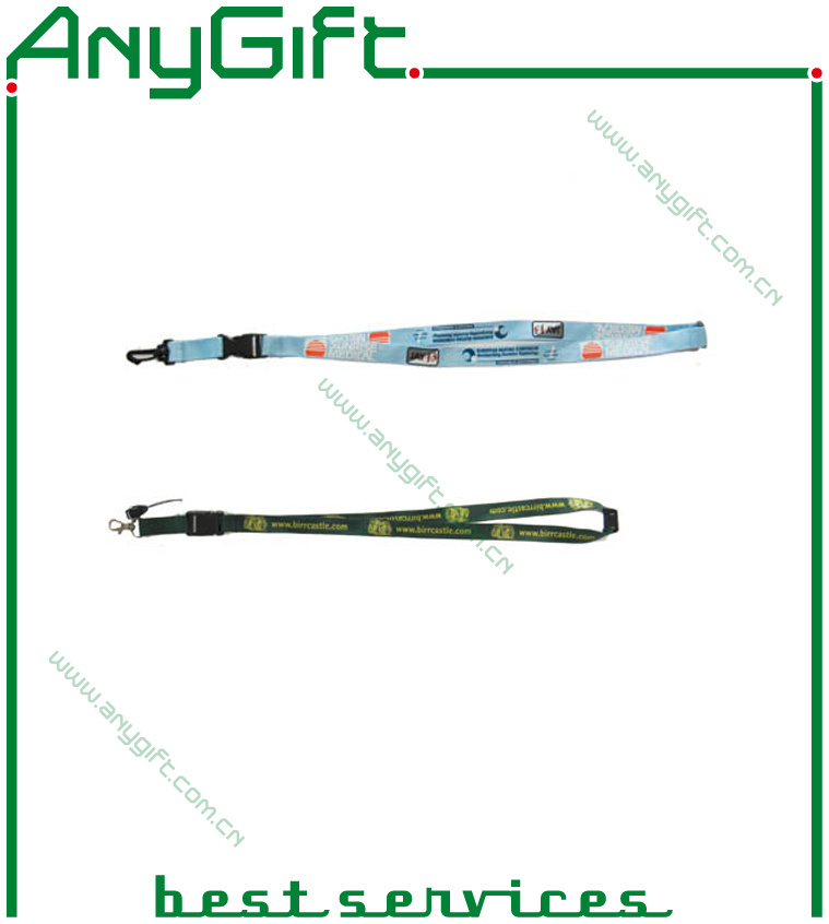 Heat Transfer Pring Ribbon/ Lanyard with Customized Logo (LAG-LY-01)