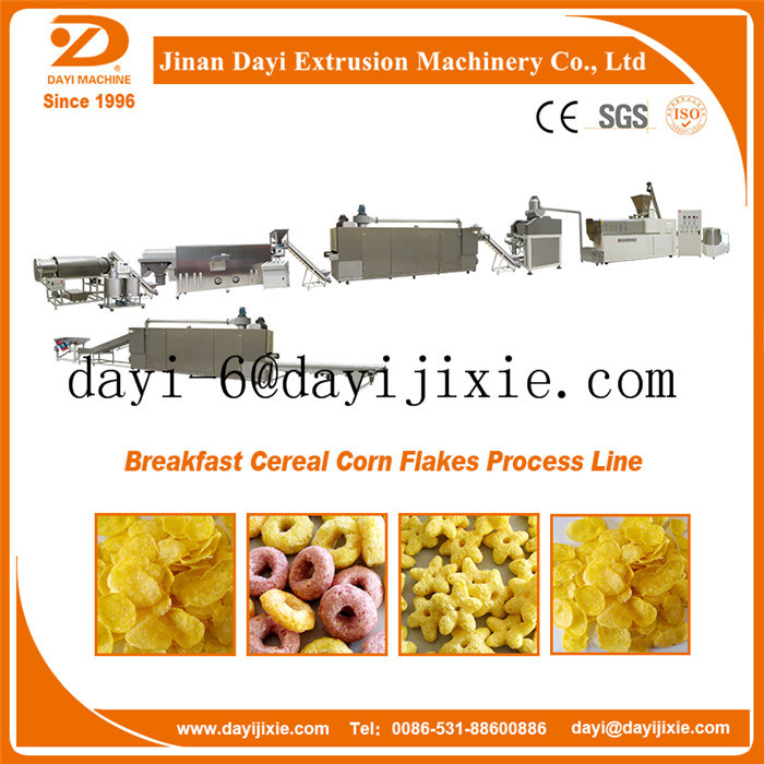 Breakfast Cereal Cornflakes Food Extruder Process Line