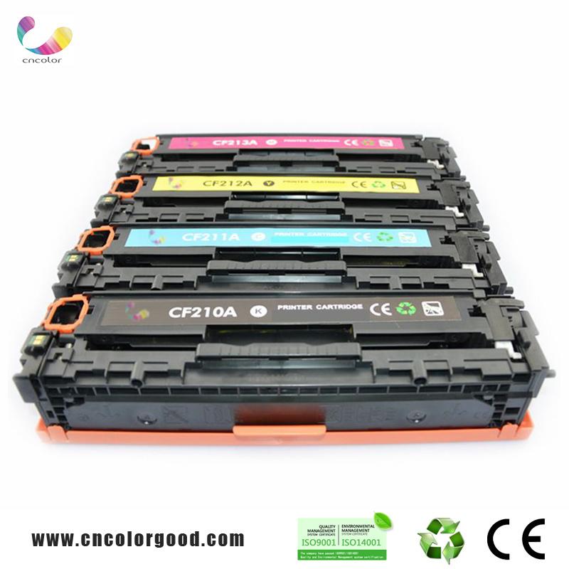 Color Original CF210A Series Toner Cartridge 131A for HP Laser Printer Cartridges CF210A/211A/212A/213A