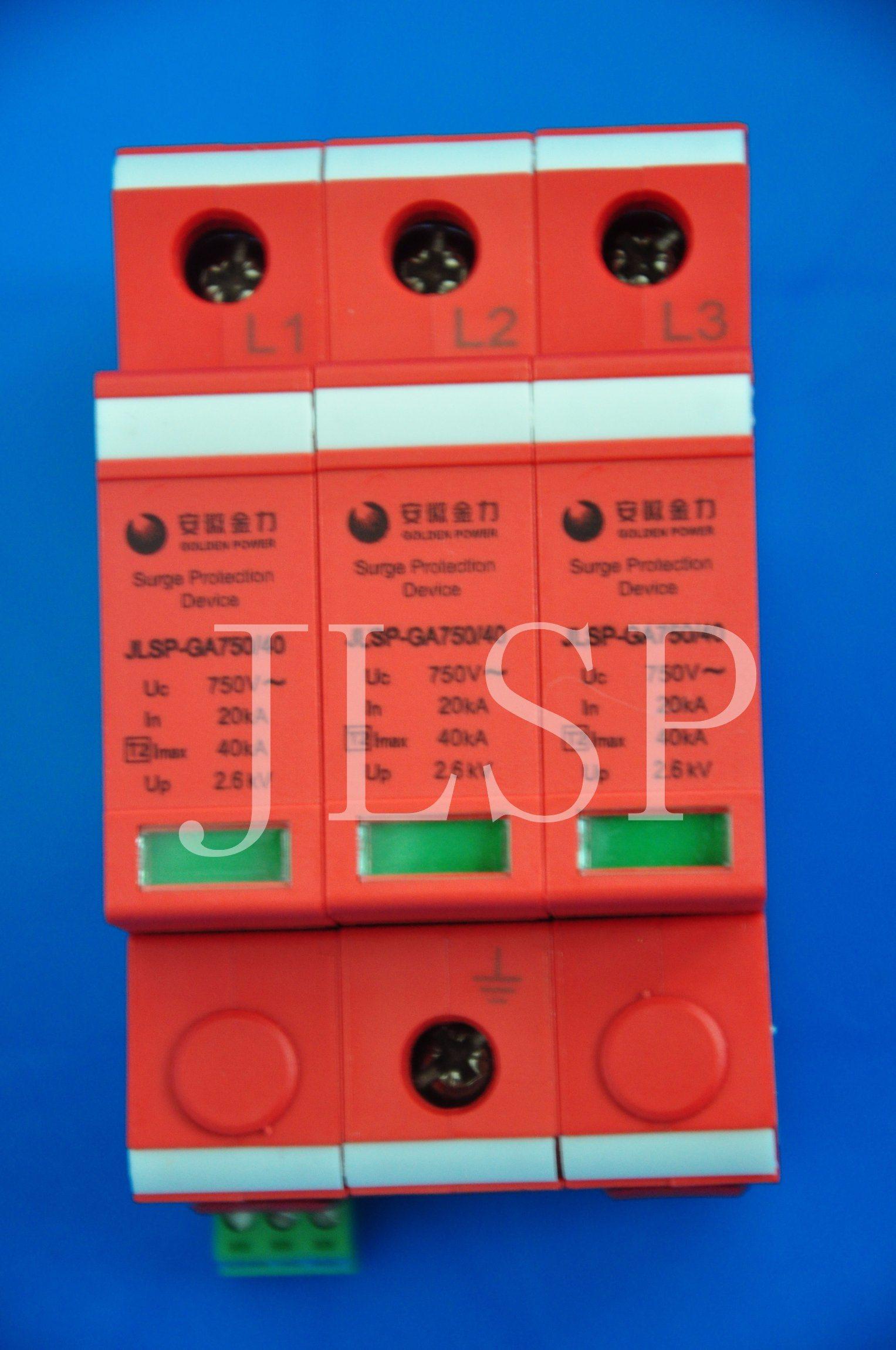 PV Application 20-40ka Solar 3p DC 1000V, Jlsp-Ga750-40, SPD, Surge Protector, 17005