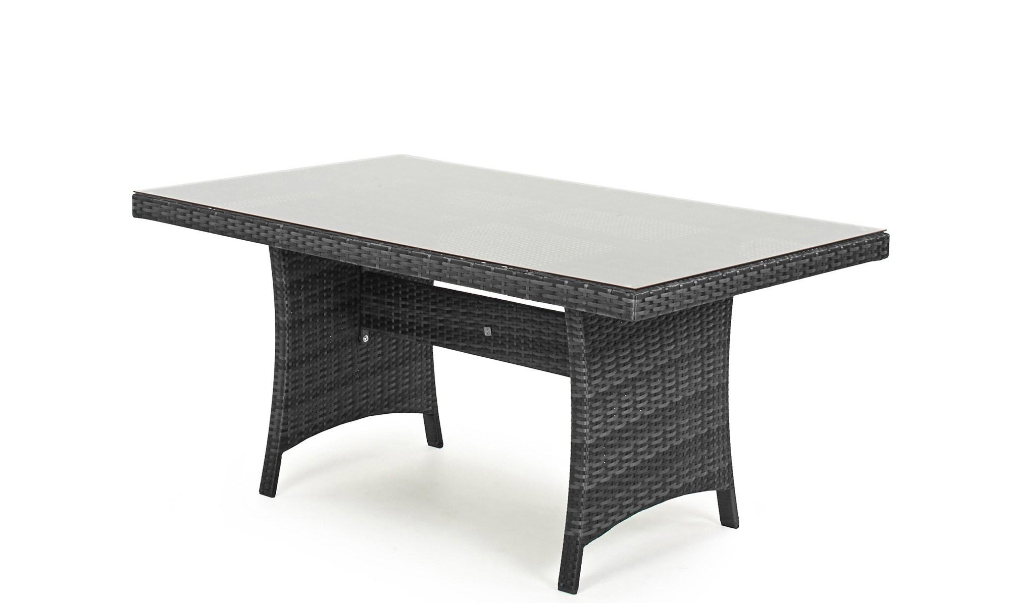 Well Furnir Corner Sofa Dining Table Rattan Garden Set