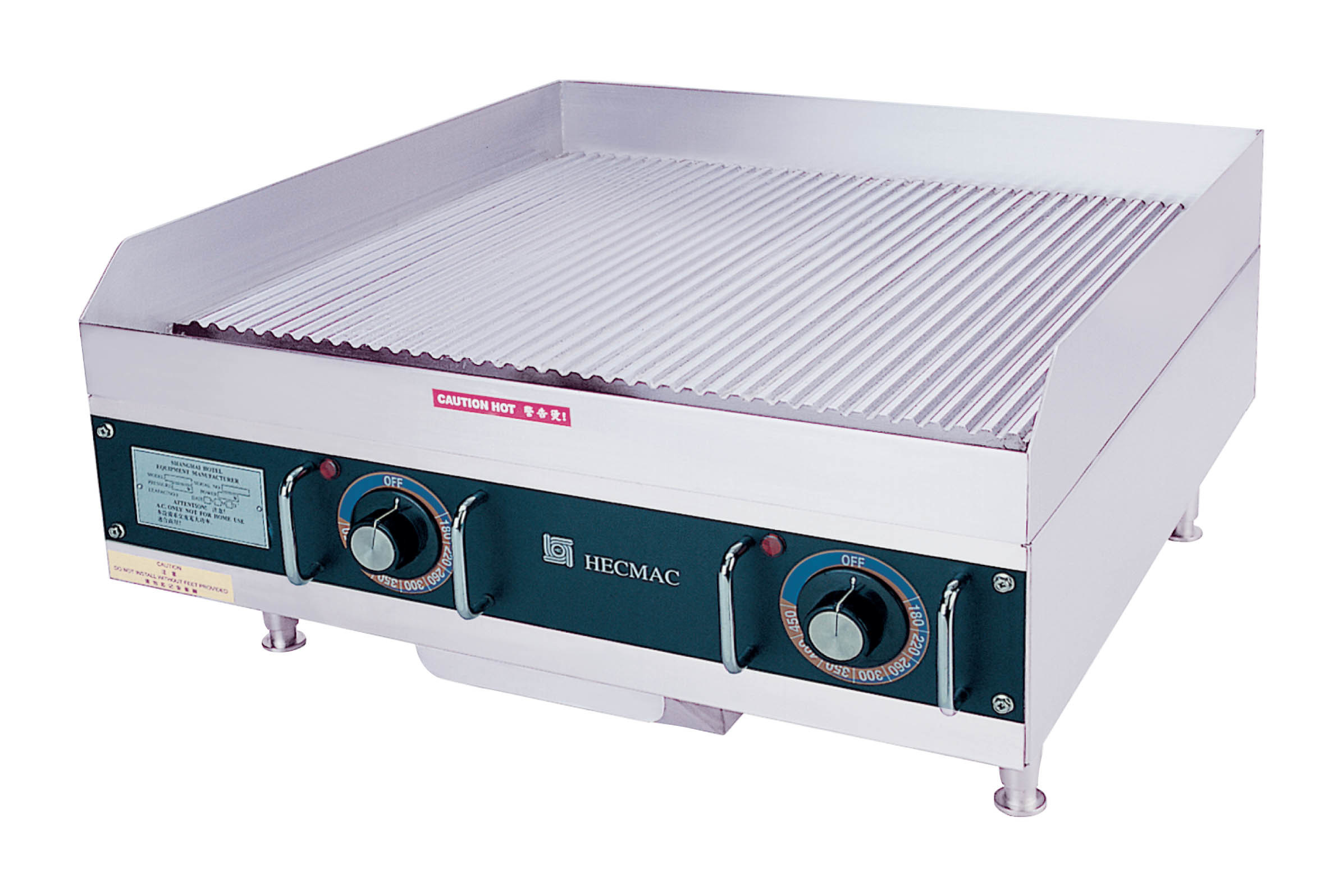 24 in Commercial Electric Grooved Griddle---Stainless Steel (FEHCC216)