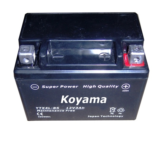 High Quality AGM Motorcycle Starting Battery -Ytx4l-Bs-12V3ah