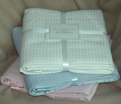 100% Cotton Waffle Baby Blanket