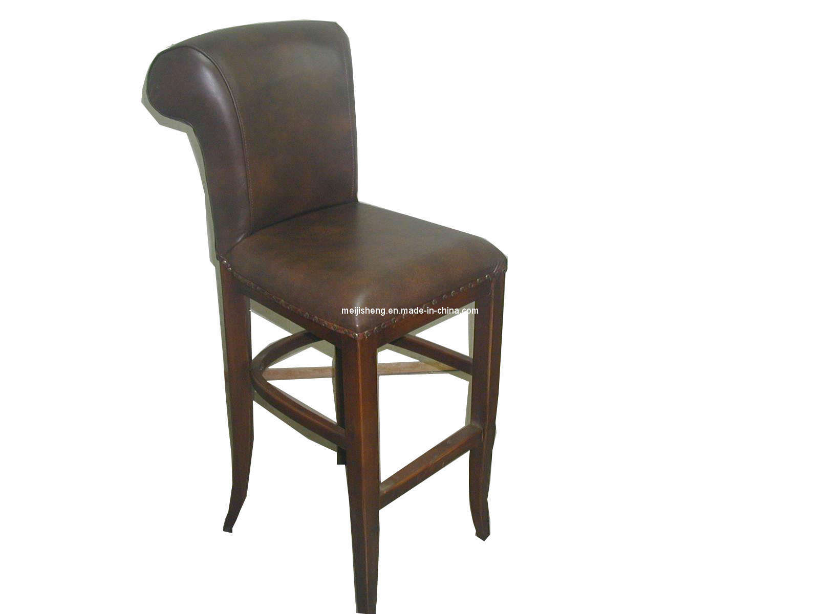 solid wooden chair with leather cushion mjs d02 china