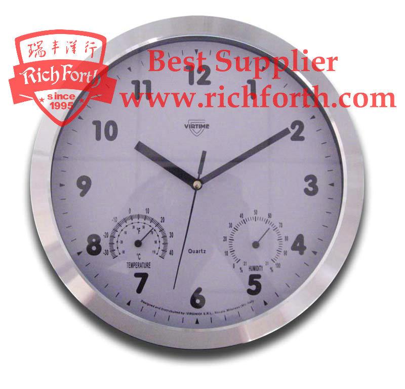 wall clock with temperature and humidity rf53310 china wall clock