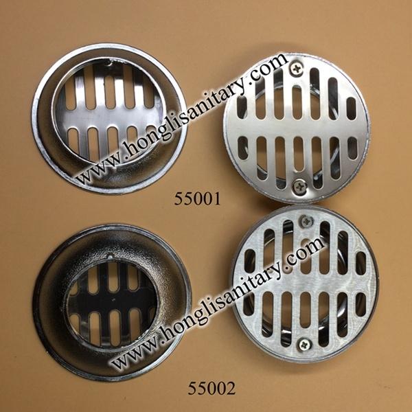 Stainless Steel Floor Drainer in Plastic or Zinc Bottom