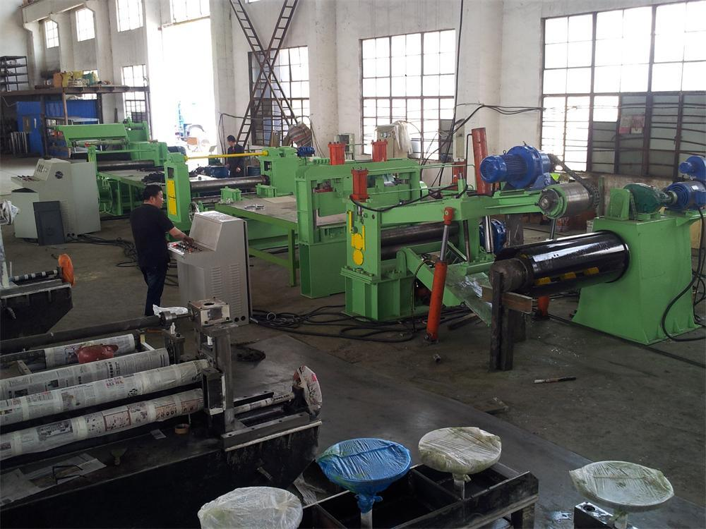 Sh0.3-3X1250mm Simple Hydraulic Slitting Line