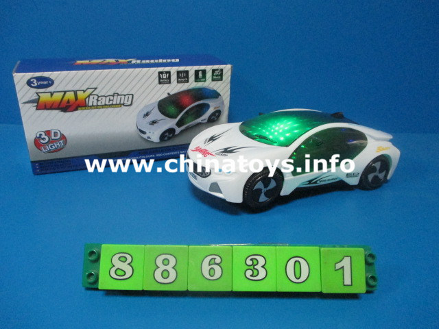 En71 Approval B/O Toy Battery Operated Cartoon Car Toy with Music & Light (877501)