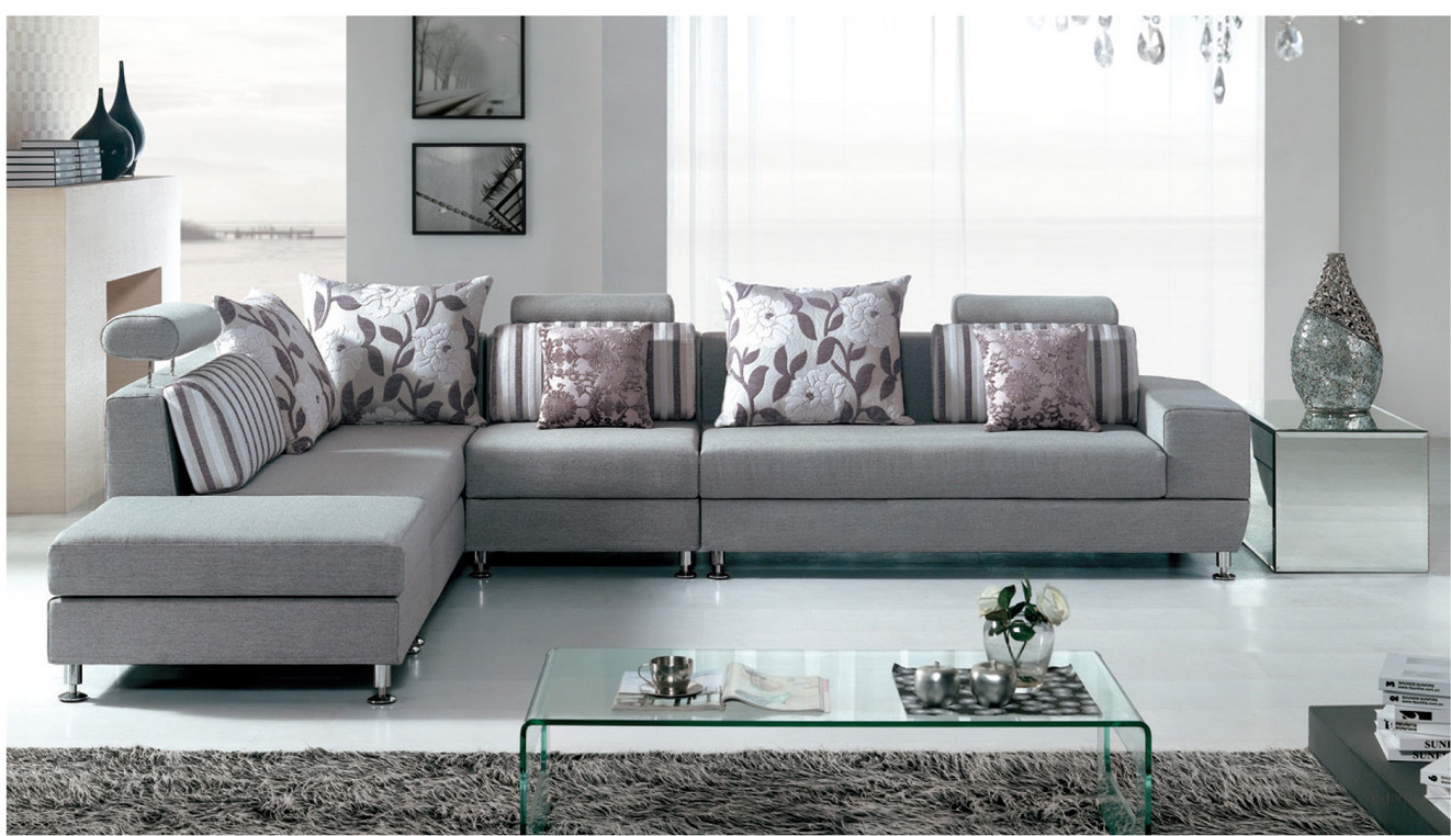 China Corner Fabric Sofa F6701 3 China Sofa Sectional Sofas