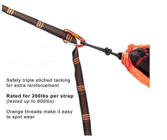 Carries Heavy Duty Hammock Straps Tree Hanging Strap Set with Loops