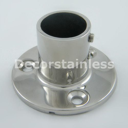 China Stainless Steel Round Base Boat Rail Fittings Photos
