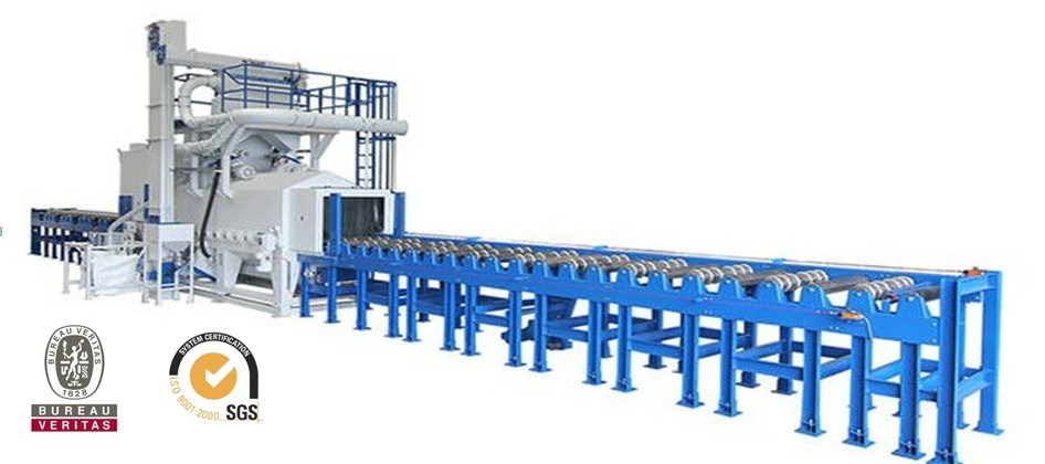 Roller Conveyor Type / Pass Through Type Shot Blasting Machine / Shot Blast Machine with BV, SGS and ISO