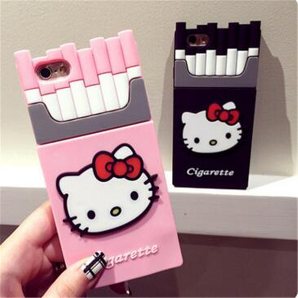 Customized Hello Kitty Cigarette Shape Silicone Cover Case