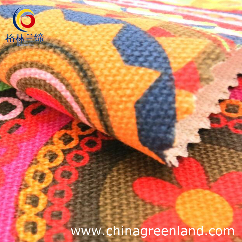 100%Cotton Canvas Printed Fabric for Garment (GLLML021)