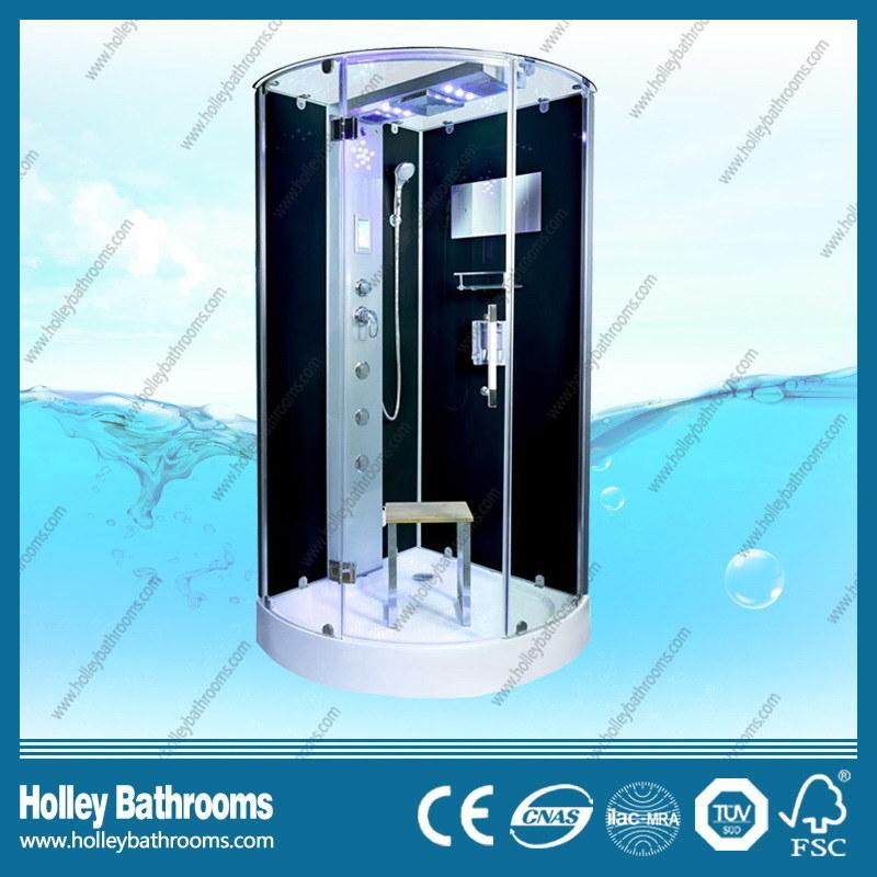 New Design Shower Room with Hinge Double Roller Wheel Sliding Door (SR216B)