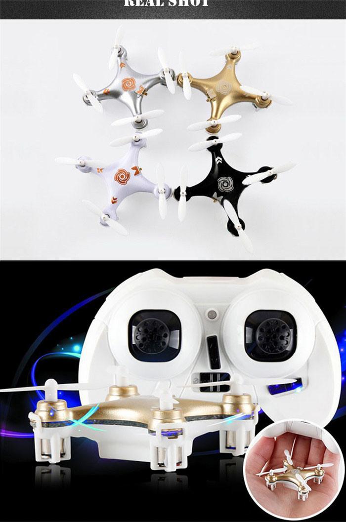 World′s Smallest Drone with Headless Mode 4cm Nano Drone RC Quadcopter Mini Drone Cherrson Cx-10A 10231046