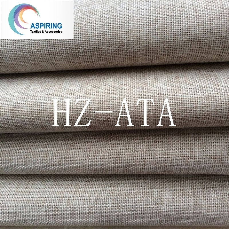 100% Polyester Linen Fabric Look Blackout Fabric for Curtain, Blackout Fabric/ Curtain Fabric
