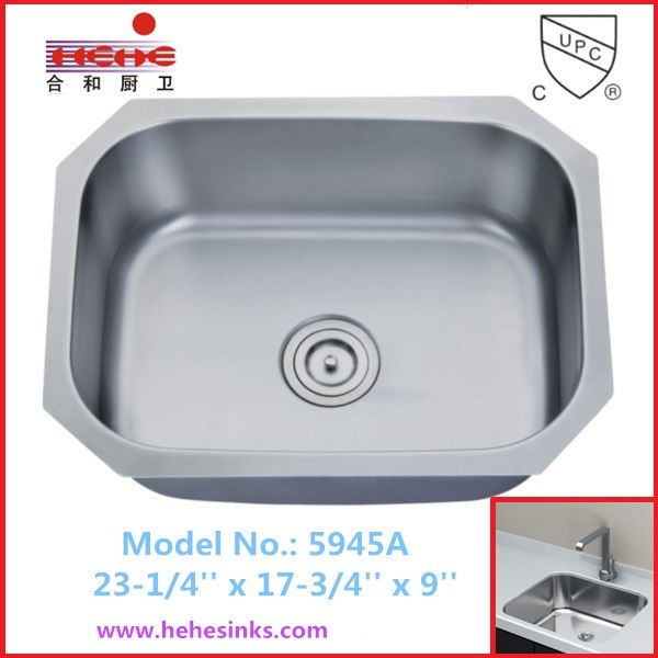 Single Bowl Stainless Steel Sink, Kitchen Sink, Wash Sink (5945)