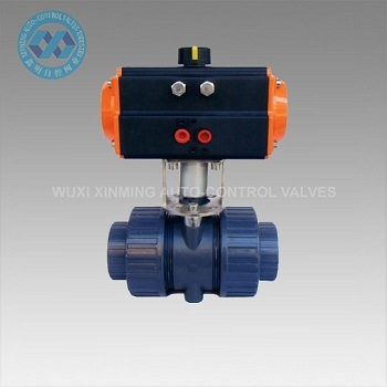Stainless Steel/PVC/Wcb Pneumatic Actuator Ball Valve