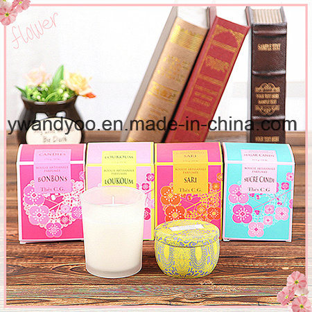 Decorative Scented Soy Home Candle in Glass with Box