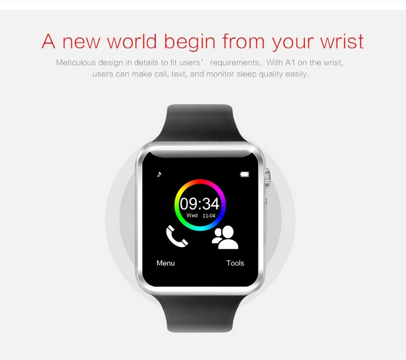 W88 Smart Watch Phone 1.54 Inch SIM / TF Card 48*40*11.8 watch Mobile Phone