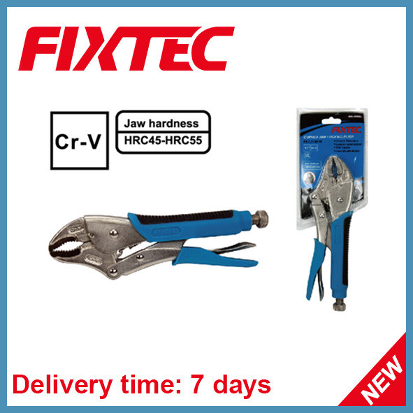 "Fixtec 10""250mm CRV Curved Jaw Lock Plier Hand Tools"