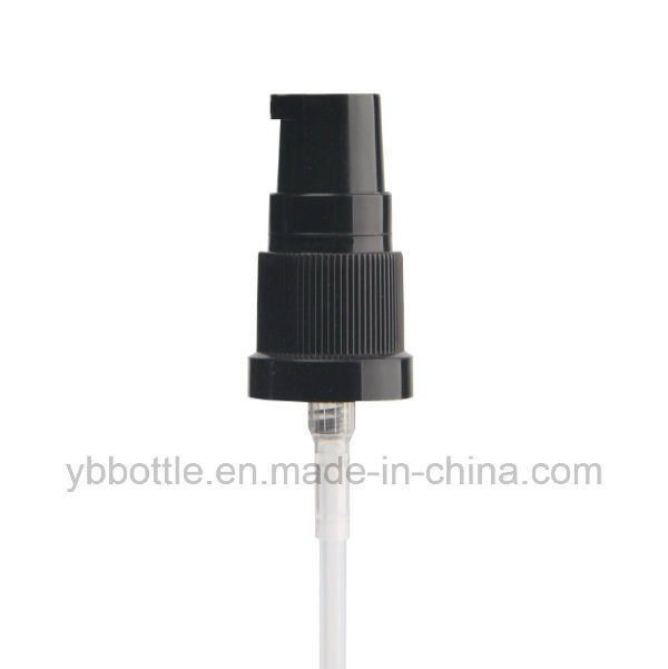 18mm Black Plastic Lotion Pump to Fit Glass Dropper Bottles, Comes with Protective Clear Cap