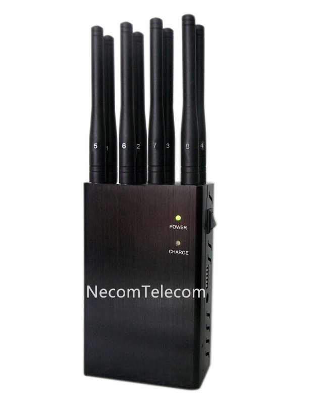 Portable Eight Antenna 8bands for All 2g/3G/4G Cellphone, Gpsl1, WiFi, Remote Control with Alarm Jammer System
