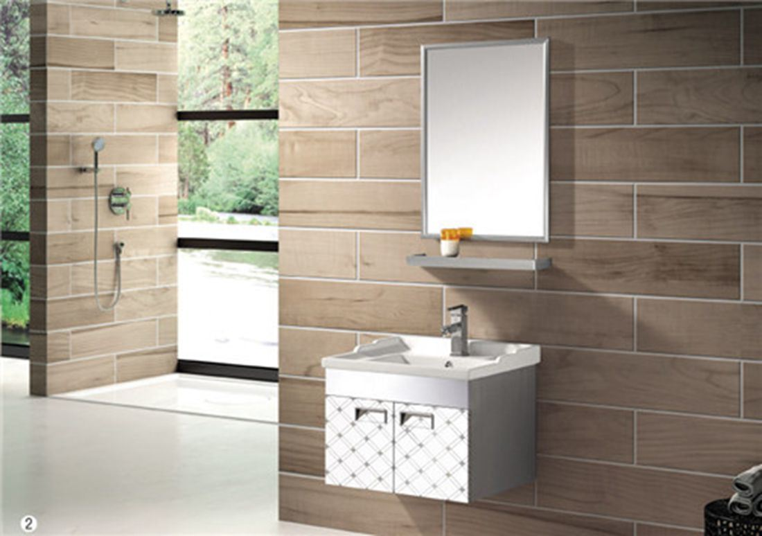 Stainless Steel Bathroom Cabinet (T-9576)