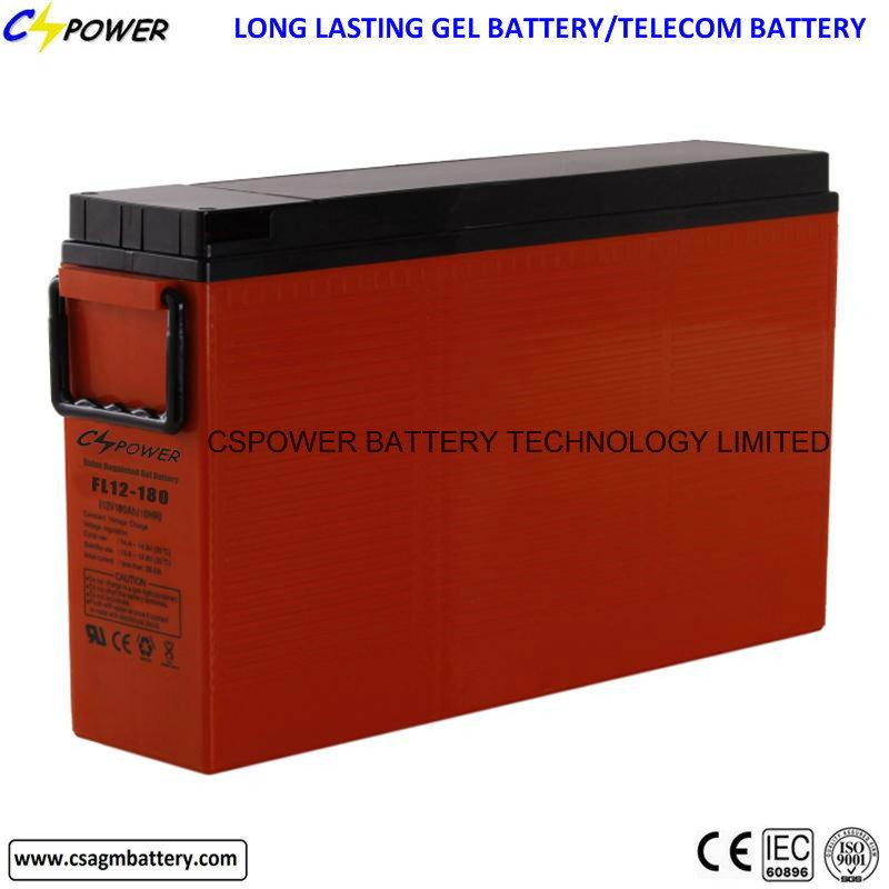 Fl12-200 12V200ah Front Terminal Solar Gel Battery with 3 Years Warranty