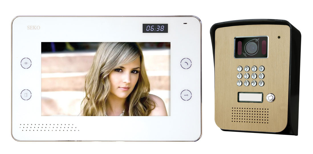 8 Inch Hands Free 4 Wires Color Video Door Phone
