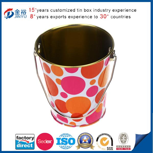 Round Shaped Pen Holder Tin Bucket