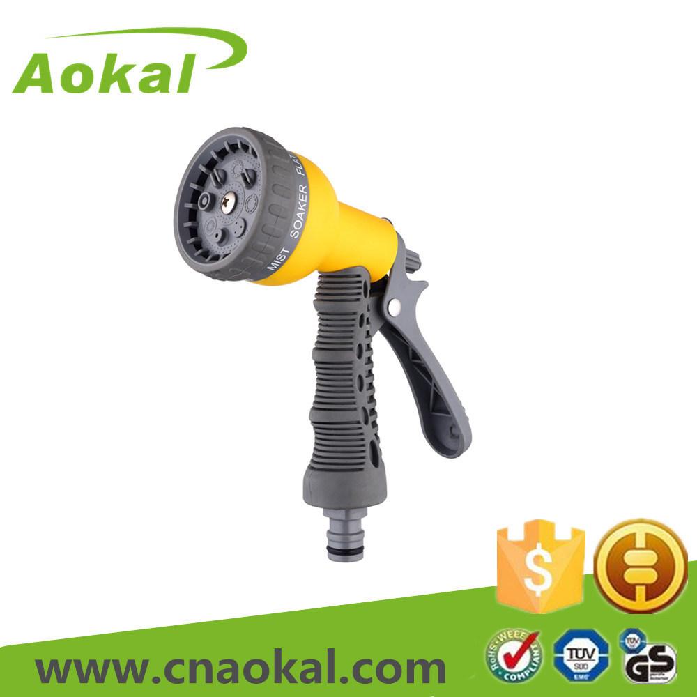 Hose Nozzle Trigger 8-Pattern Plastic Water Spray Gun