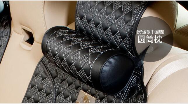 Car Headrest Neck Pillow Column Shape Support Neck