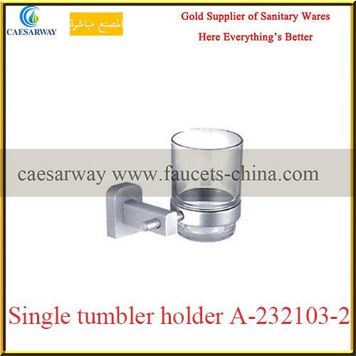 Sanitary Ware Bathroom Brass Fittings Brass Single Glass Holder