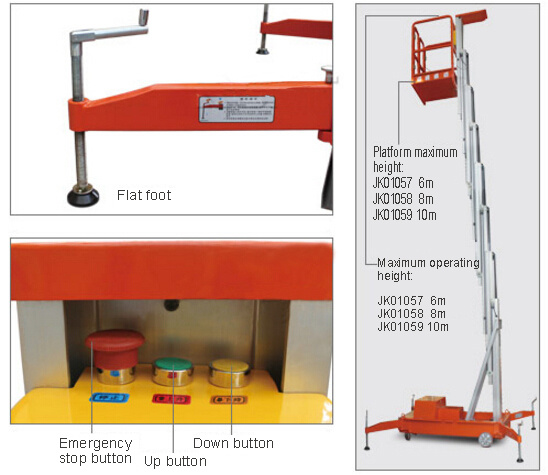 Hot Sale! Movable Electric Aluminium Alloy Aerial Work Platform