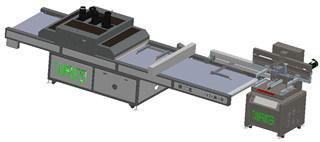 TM-Z1 Oblique Arm Type Screen Printer Connect UV Curing Machine