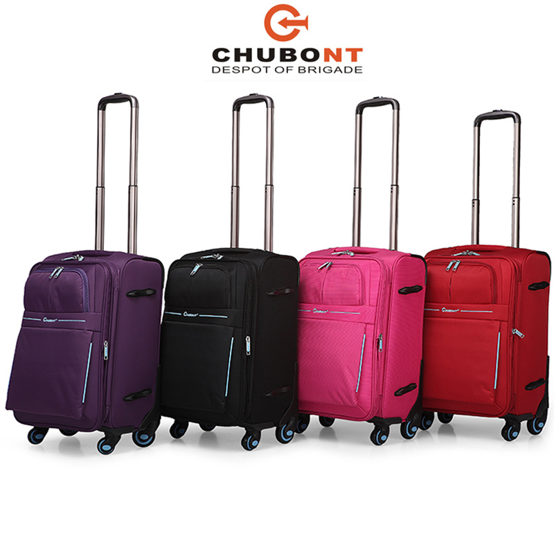 Chuont Waterproof Nylon Full Lining Built-in Trolley System Luggage