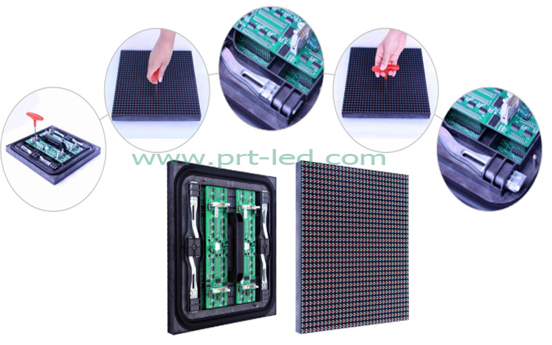Front/Rear Maintenance RGB LED P10 Module for Outdoor (320X320mm)