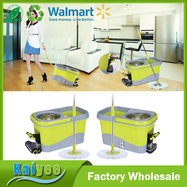 360 Spin Tornado Floor Cleaning Mop with Easy Wring Foot Pedal Bucket