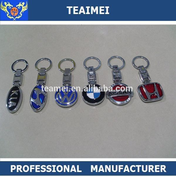 Various Chrome Car Logo Keychain Metal Car Logo Key Ring