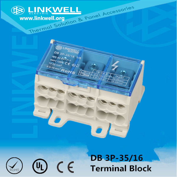 Polyamide UL 94V-0 Terminal Block with Blue Cover