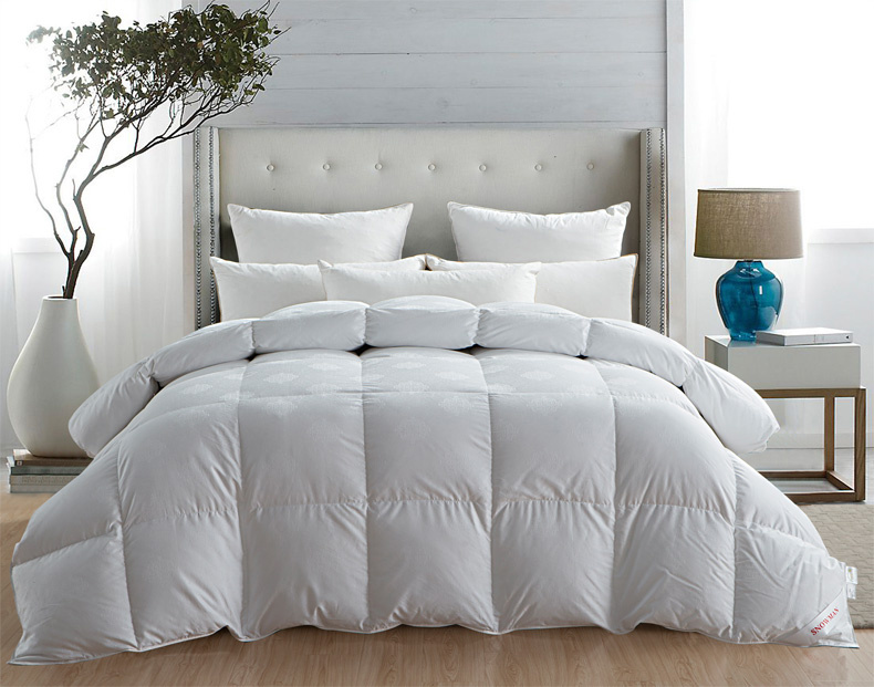 Silk Cover Grey Goose Down Quilt for Children